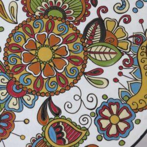 Piatto decorativo in ceramica fenica, Ceramiche Liberati
