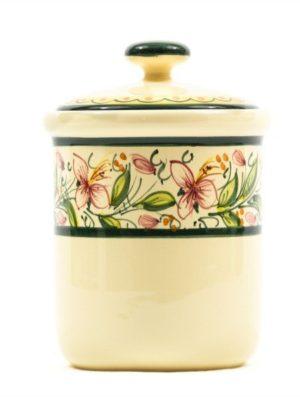 Barattolo in ceramica maiolica per sale fino, Ceramiche Liberati