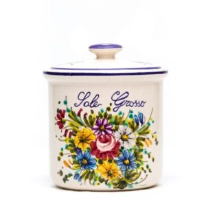 Barattolo in ceramica per sale grosso _Ceramiche Liberati