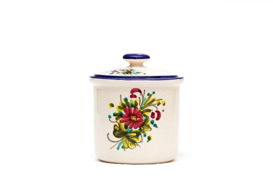 Contenitore in ceramica per caffè fioraccio, Ceramiche Liberati