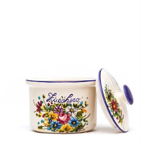 Barattolo o contenitore in ceramica per zucchero