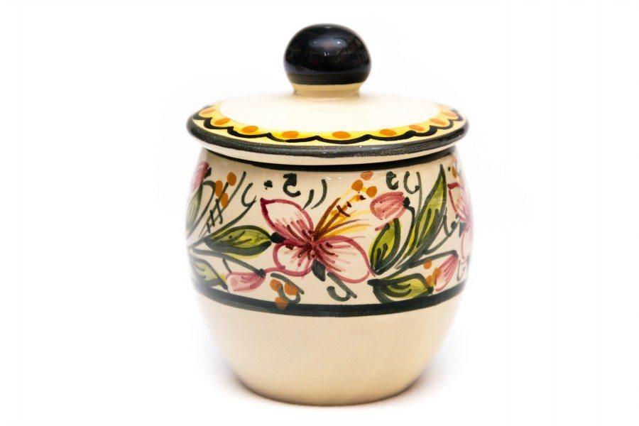 Servizio caffè in ceramica da 8 orchiedea, Ceramiche Liberati