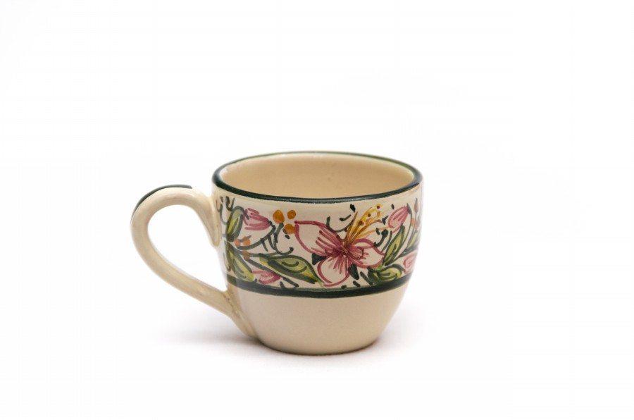 Tazzina in ceramica decoro orchidea di Ceramiche Liberati