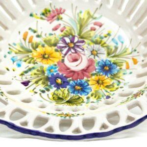 Centrotavola in ceramica con traforo, Ceramiche Liberati.