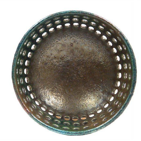 Centrotavola in ceramica italiana raku, Ceramiche liberati.