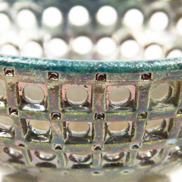 Centrotavola in ceramica raku, Ceramiche Liberati.