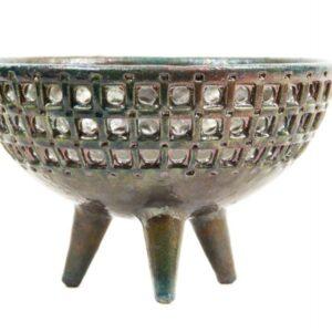 Centrotavola in ceramica raku Abruzzo, Ceramiche Liberati