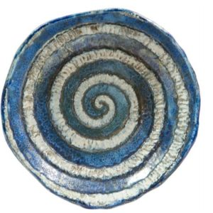 Centrotavola ceramica raku