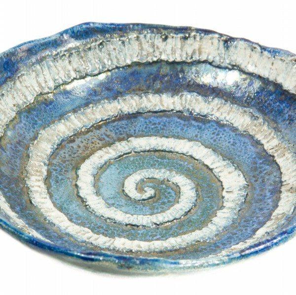 Centrotavola ceramica raku, pezzo unico