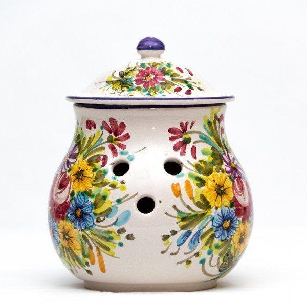 Portacipolla in ceramica italiana per cipolle, Ceramiche Liberati.