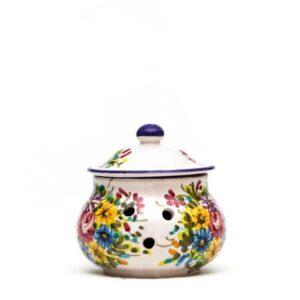 Ceramic chili jar fioraccio by Ceramiche Liberati, Villamagna - Chieti.