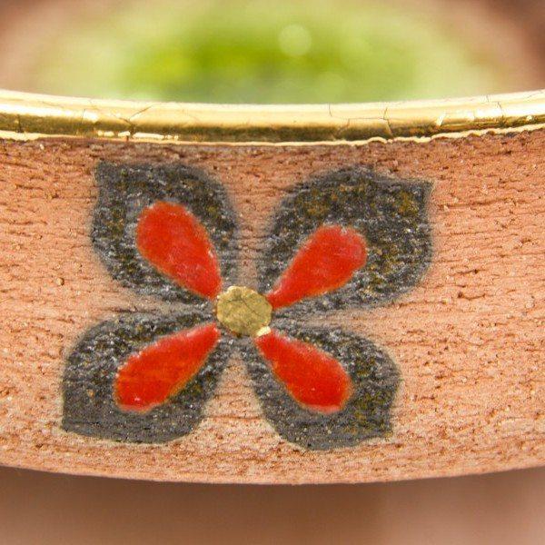 Centrotavola in ceramica refrattaria rosso terra, Ceramiche Liberati