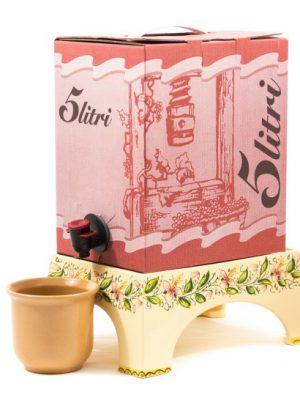 Supporto per bag in box per vino in ceramica, Ceramiche Liberati