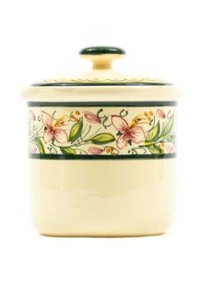 Contenitore in ceramica per caffè orchidea, Ceramiche Liberati