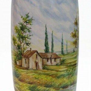 Vaso in ceramica tradizionale paesaggio naturalistico; Ceramiche Liberati