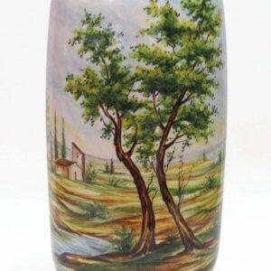 Vaso in ceramica italiana dipinto a mano, Ceramiche Liberati