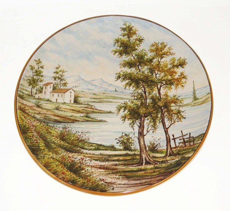 Piatto in ceramica Abruzzo dipinto a mano, Ceramiche Liberati