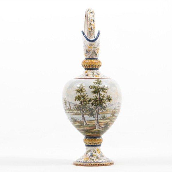 Anfora in ceramica Abruzzo, paesaggio, Ceramiche Liberati