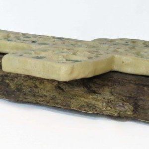 Croce moderna in ceramica con cristalli, Ceramiche Liberati