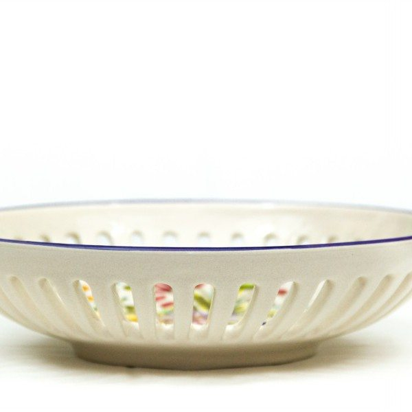 Ceramic fruit bowl or pocket emptier Fioraccio, Ceramiche Liberati
