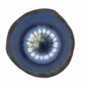 Centrotavola ceramica gres con cristalli, decorato e modellato a mano, Ceramiche Liberati