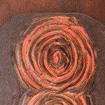 Pannello in ceramica italiana su supporto di ferro, Ceramiche Liberati