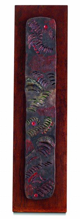Pannello d'arredo in ceramica contemporanea, pezzo unico, Ceramiche Liberati