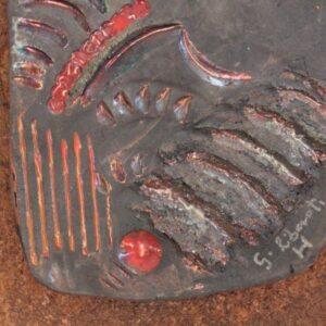 Pannello in ceramica da arredamento, realizzato a mano, Ceramiche Liberati