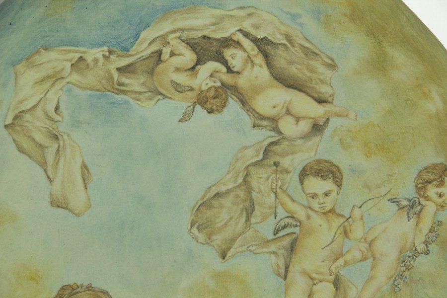 Ovale in ceramica, Trionfo di venere, Ceramiche Liberati