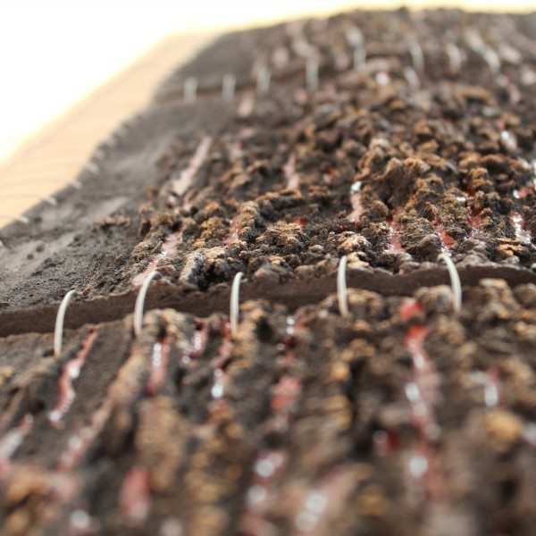 Pannello d'arredo casa raku argilla nera, tecnica mista, Ceramiche Liberati