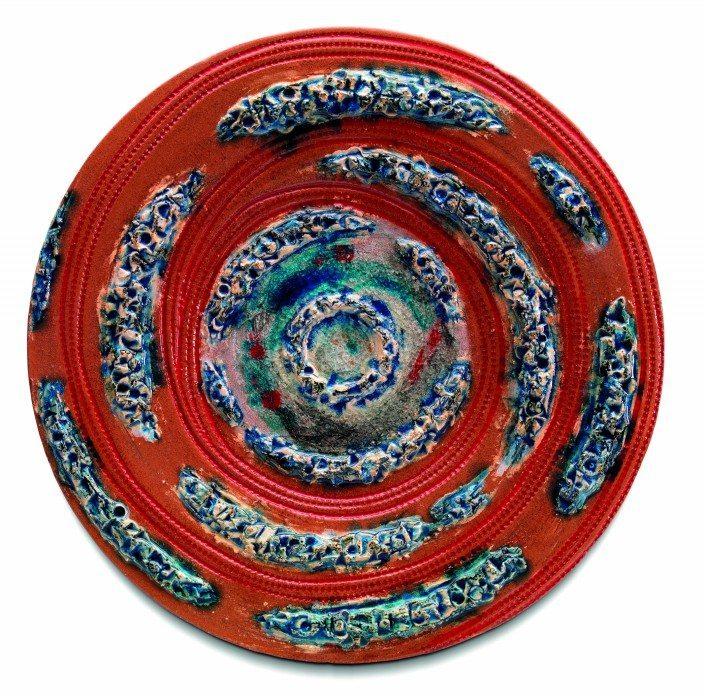 piatto da muro in ceramica moderna da design, Ceramiche Liberati