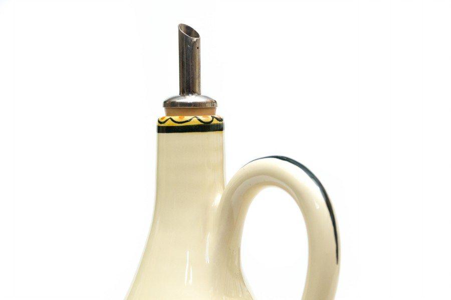 Oliera in ceramica italiana realizzata e decorata a mano, Ceramiche Liberati, Italia