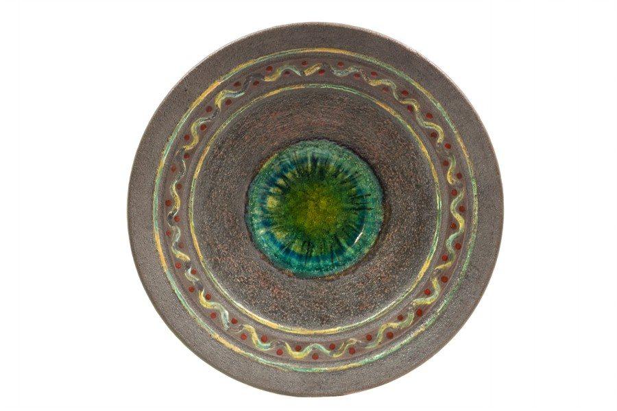 Centrotavola in semirefrattario, refrattario e cristalli, Ceramiche Liberati