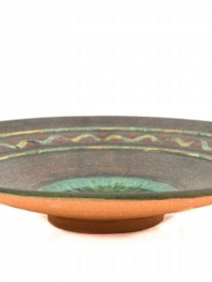 Centrotavola in ceramica, refrattario e cristalli, Ceramiche Liberati