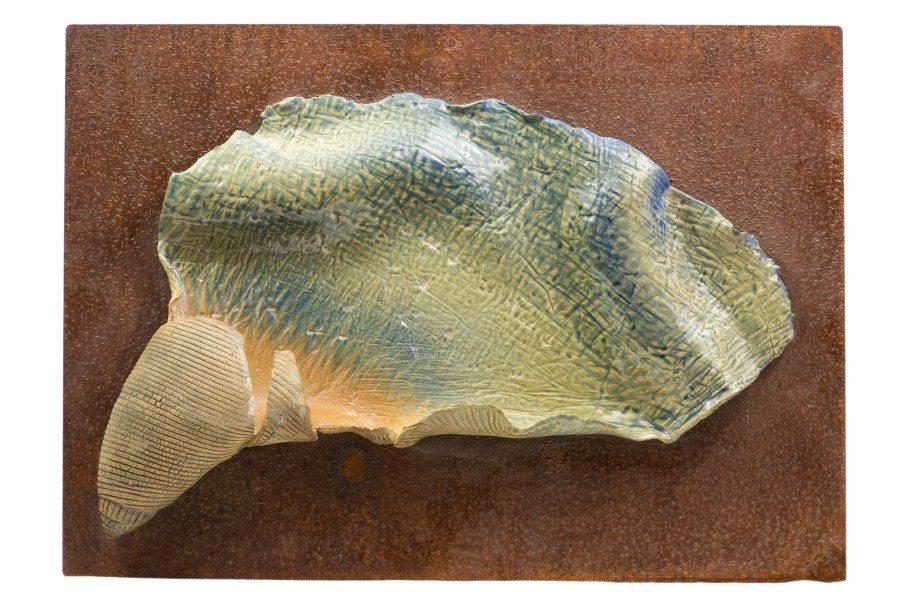 Pannello da muro in ceramica moderno, conchiglia, Ceramiche Liberati