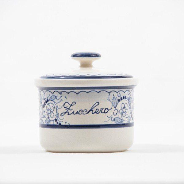 Barattolo in ceramica per zucchero, decoro Teate, Ceramiche Liberati