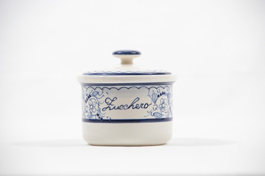 Ceramic sugar jar teate