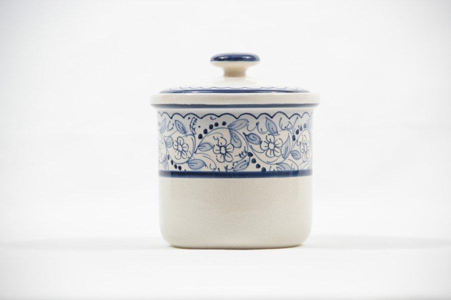 Barattolo in ceramica per caffè teste, Ceramiche Liberati