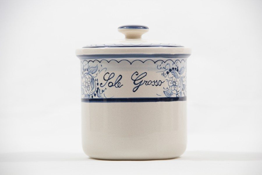 Ceramic salt jar, Teate decoration by Ceramiche Liberati