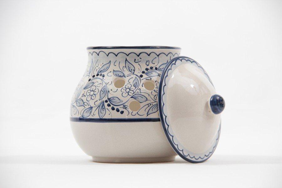 Barattolo portacipolla in ceramica teate, Ceramiche Liberati