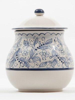 Barattolo in ceramica portacipolla teate, Ceramiche Liberati