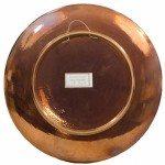 Piatto in ceramica moderna, decoro a riflesso, firma dell'autore, Ceramiche Liberati
