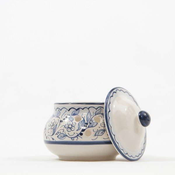 Barattolo in ceramica portapeperoncino teate, Ceramiche Liberati
