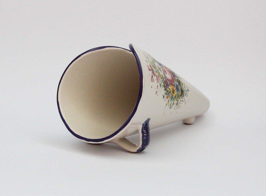 Portaarosticini fioraccio di Ceramiche Liberati