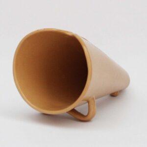 Portarrosticini color terracotta in ceramica italiana, Ceramiche Liberati