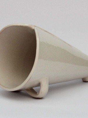Portarrosticini o spiedini in ceramica artigianale, decoro fascia rose di Ceramiche Liberati