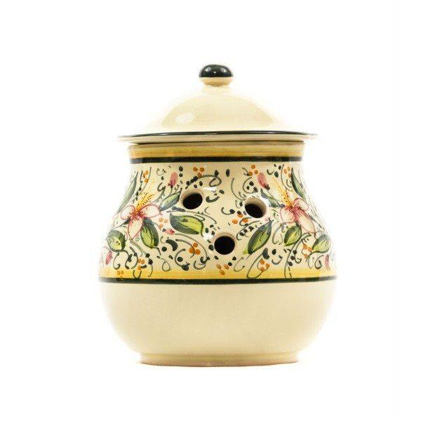 Barattolo portaaglio in ceramica, Ceramiche Liberati, Villamagna, Chieti, Italia.