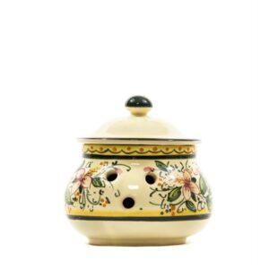 Ceramic chili jar Orchidea, Ceramiche Liberati