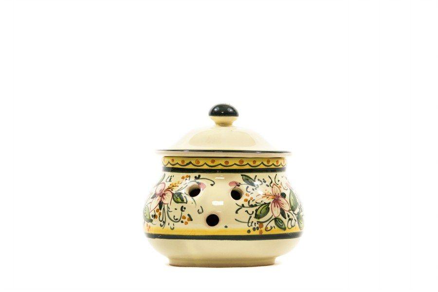 Contenitore in ceramica per peperoncino orchidea, Ceramiche Liberati