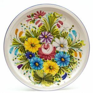 Italian ceramic dessert plate, fioraccio, Liberati
